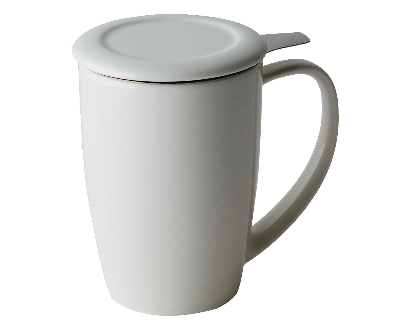 Caneca em Porcelana Curvy Branco Gelo - 433ml   Westwing.com.br