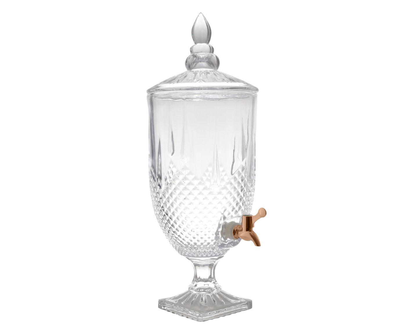 Suqueira em Cristal Ecológico Diamante Rosê - 5L | Westwing.com.br