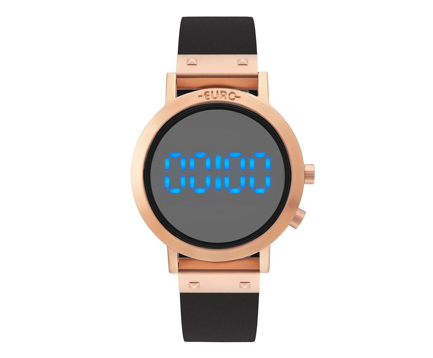 Relógio Digital Fashion Fit Euro Redondo Rosê | Westwing.com.br