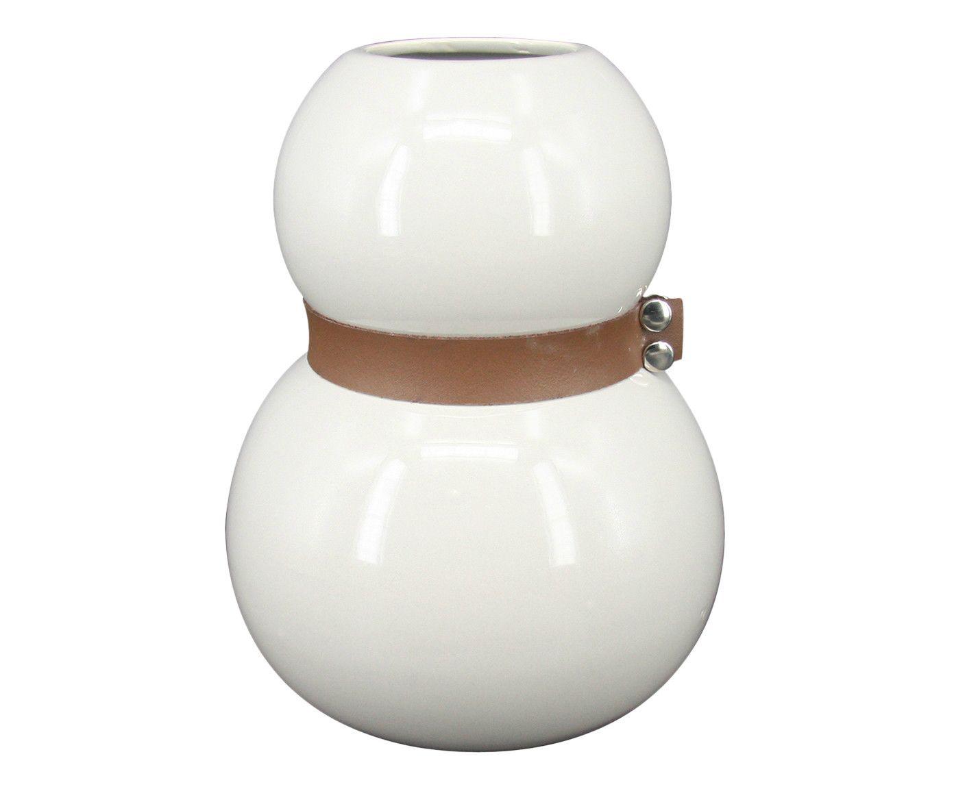 Vaso com Cinto René Branco - 20X16cm | Westwing.com.br