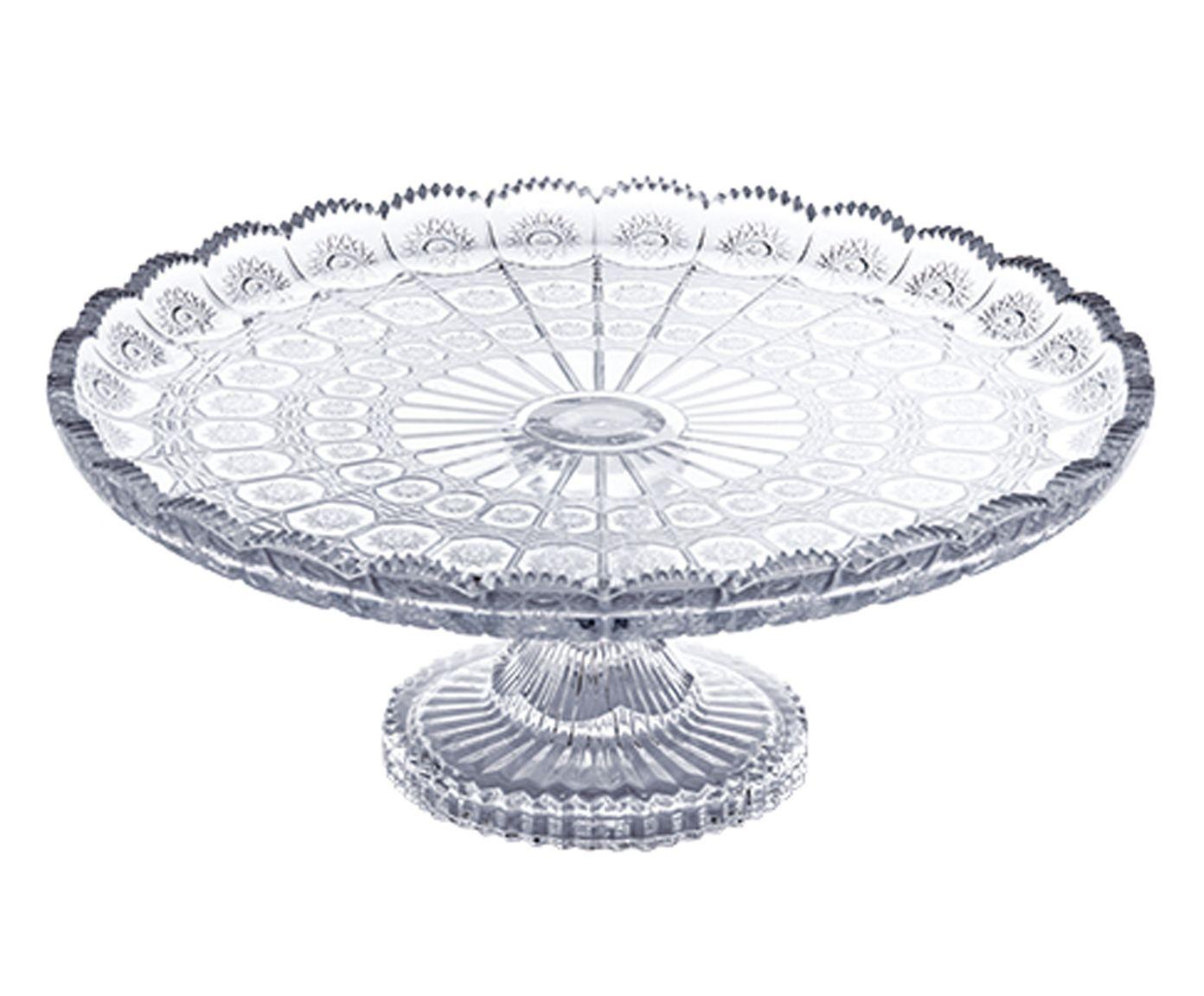Prato para Bolo em Cristal Versailles - 33cm   Westwing.com.br