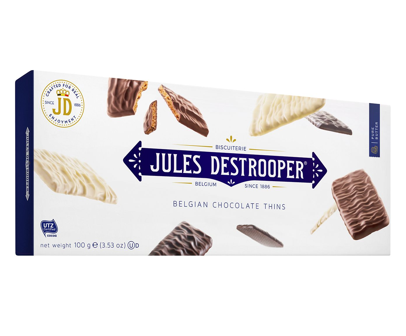 Biscoito Belga Jules D. Chocolate Thins - 100G | Westwing.com.br