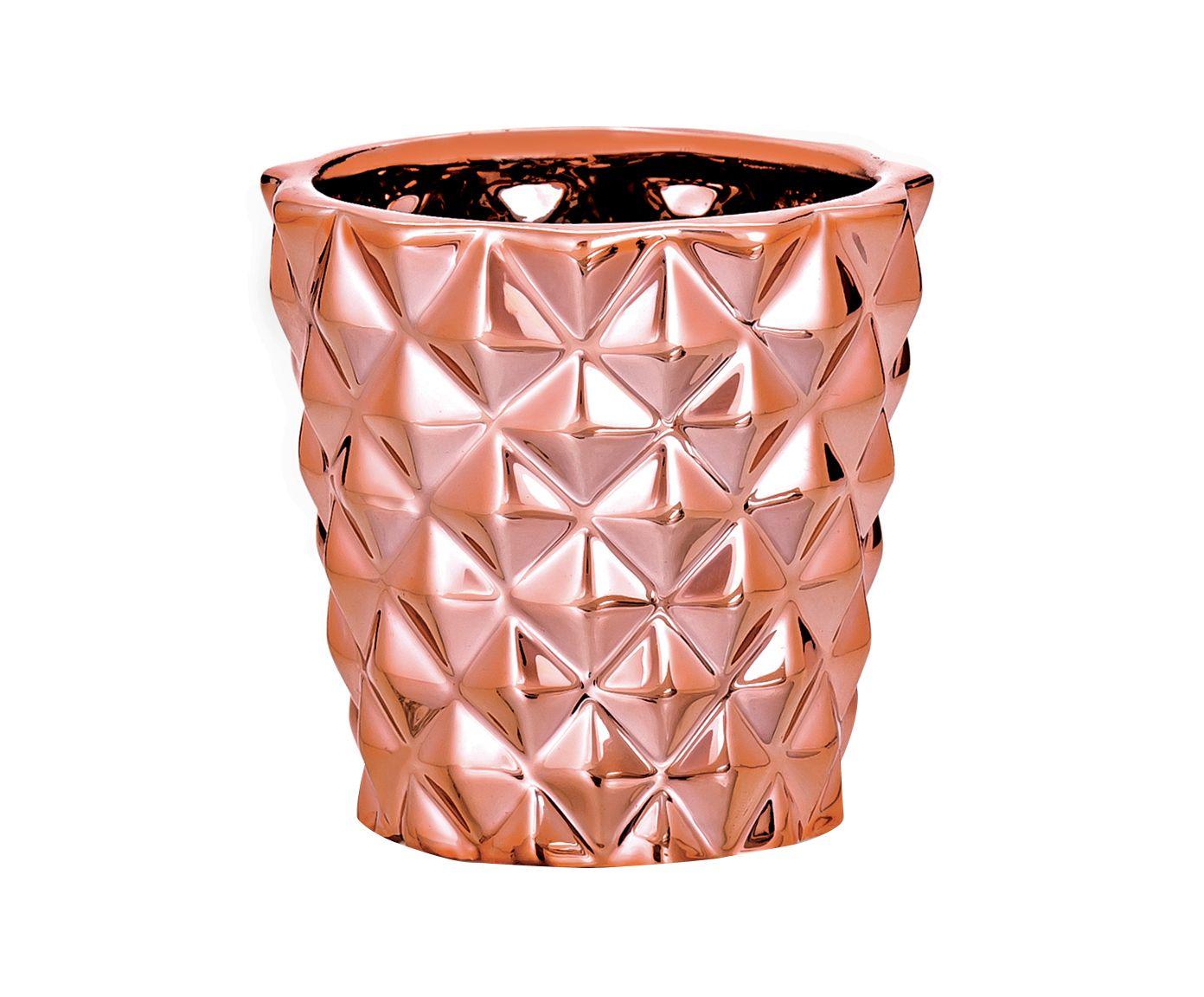 Cachepot Vanessa Dourado Rosê - 8cm | Westwing.com.br