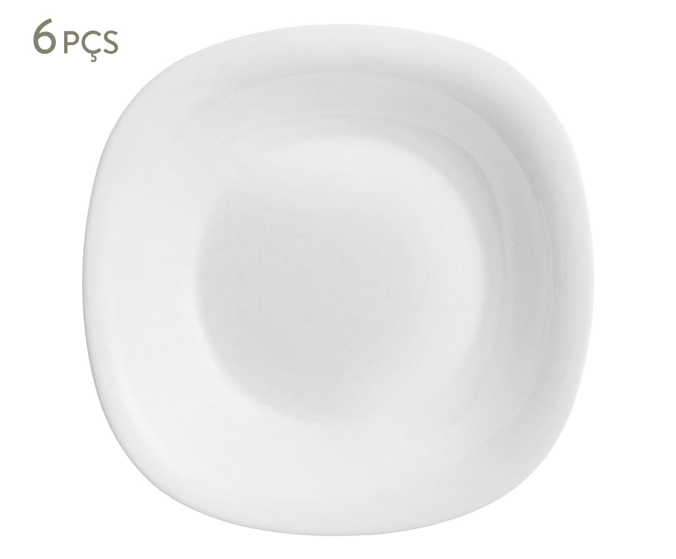 Jogo de Pratos Fundos Carine Branco - 22,6X3,8cm | Westwing.com.br