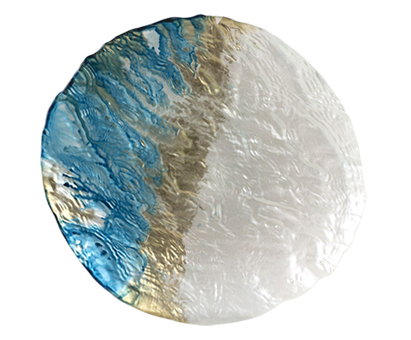 Centro de Mesa Deep Sea Azul e Pérola - 27X2X23cm | Westwing.com.br