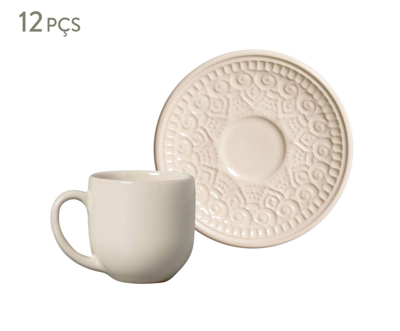Jogo de Xícaras para Café com Pires Agra Cru - 112ml   Westwing.com.br