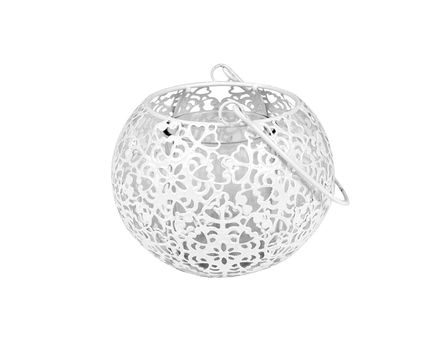 Lanterna Basket Ipê Branca Bivolt - 16,5X11cm   Westwing.com.br