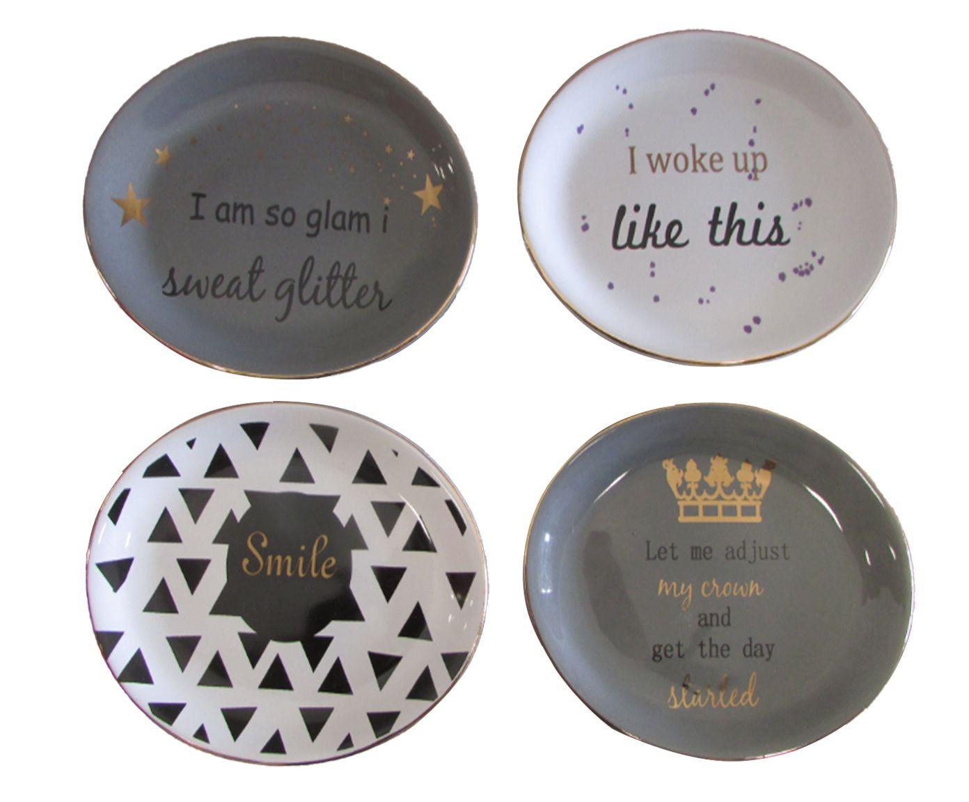 Jogo de Pratos Decorativos Mascara and Caffeine - 14,2X1X10,7cm | Westwing.com.br
