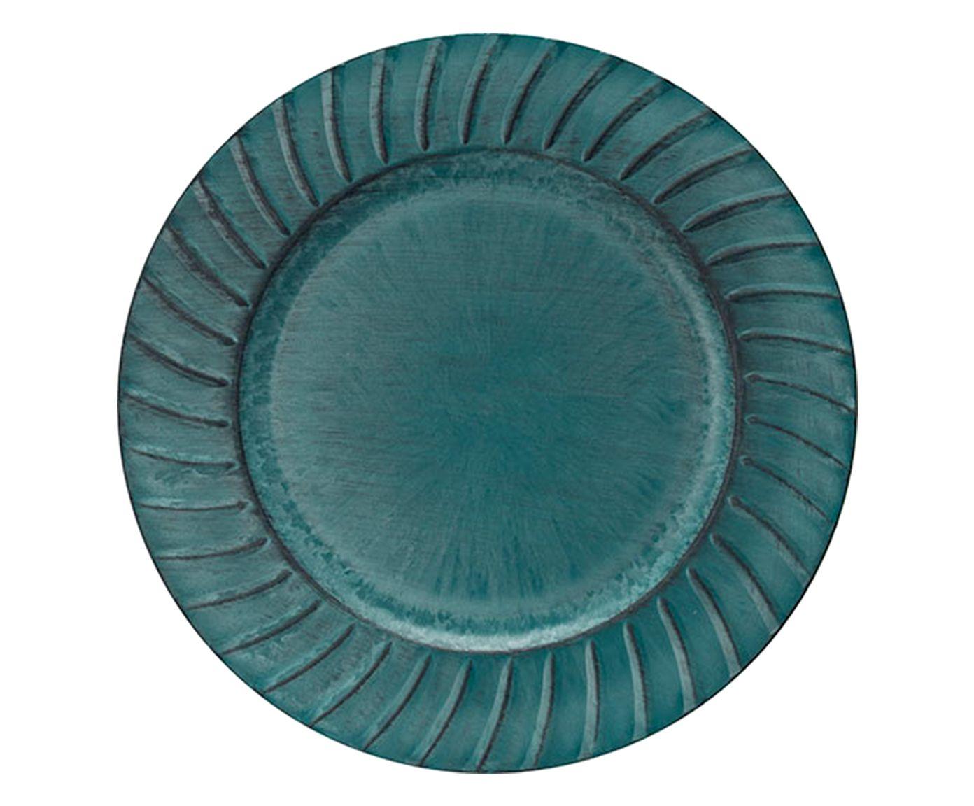 Sousplat Dorico Green - 33cm | Westwing.com.br