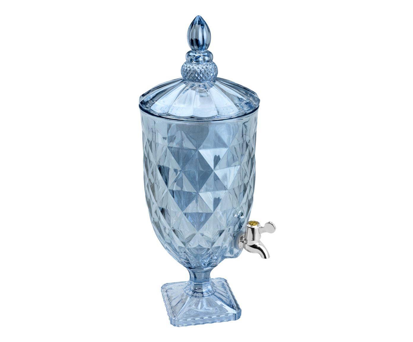 Suqueira em Cristal Ecológico Diamond Azul - 5000ml | Westwing.com.br