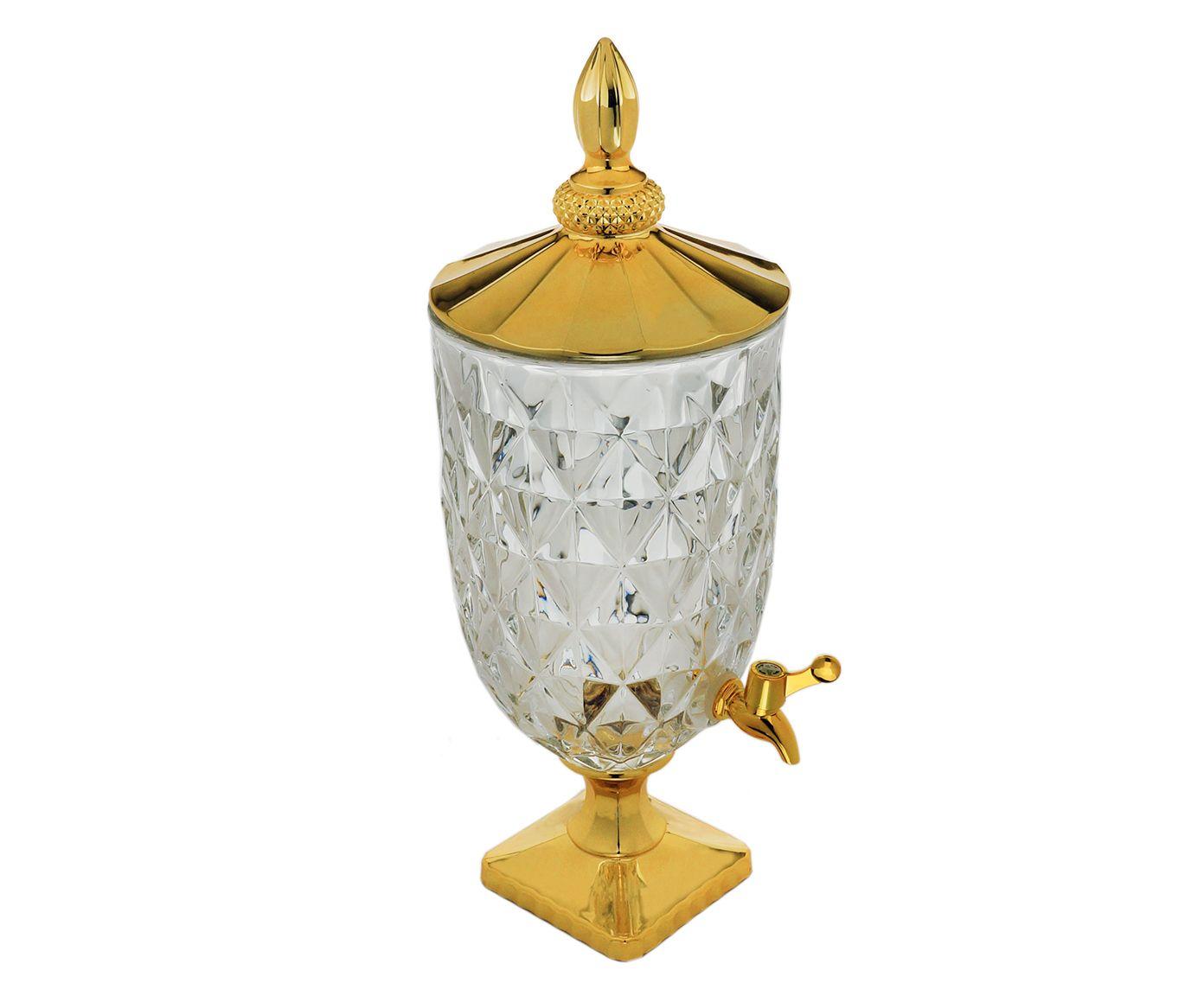 Suqueira em Cristal Ecológico Diamond Dourada - 5L | Westwing.com.br
