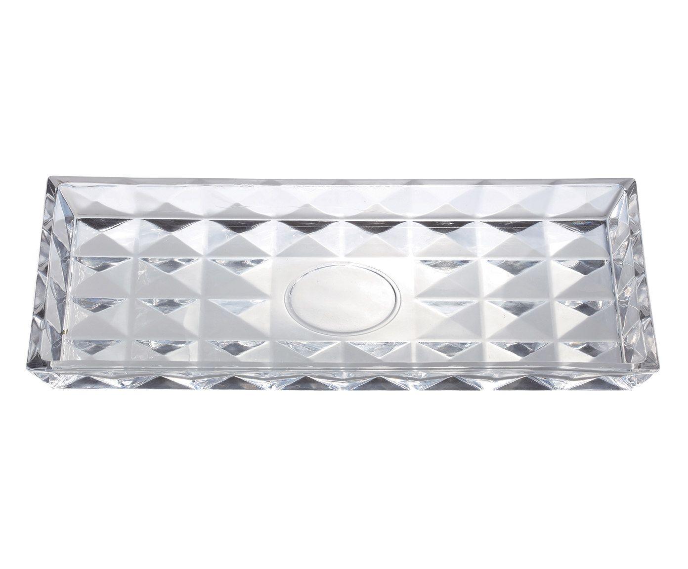 Travessa em Cristal Aquamarine - 35X18,5X2,5cm | Westwing.com.br