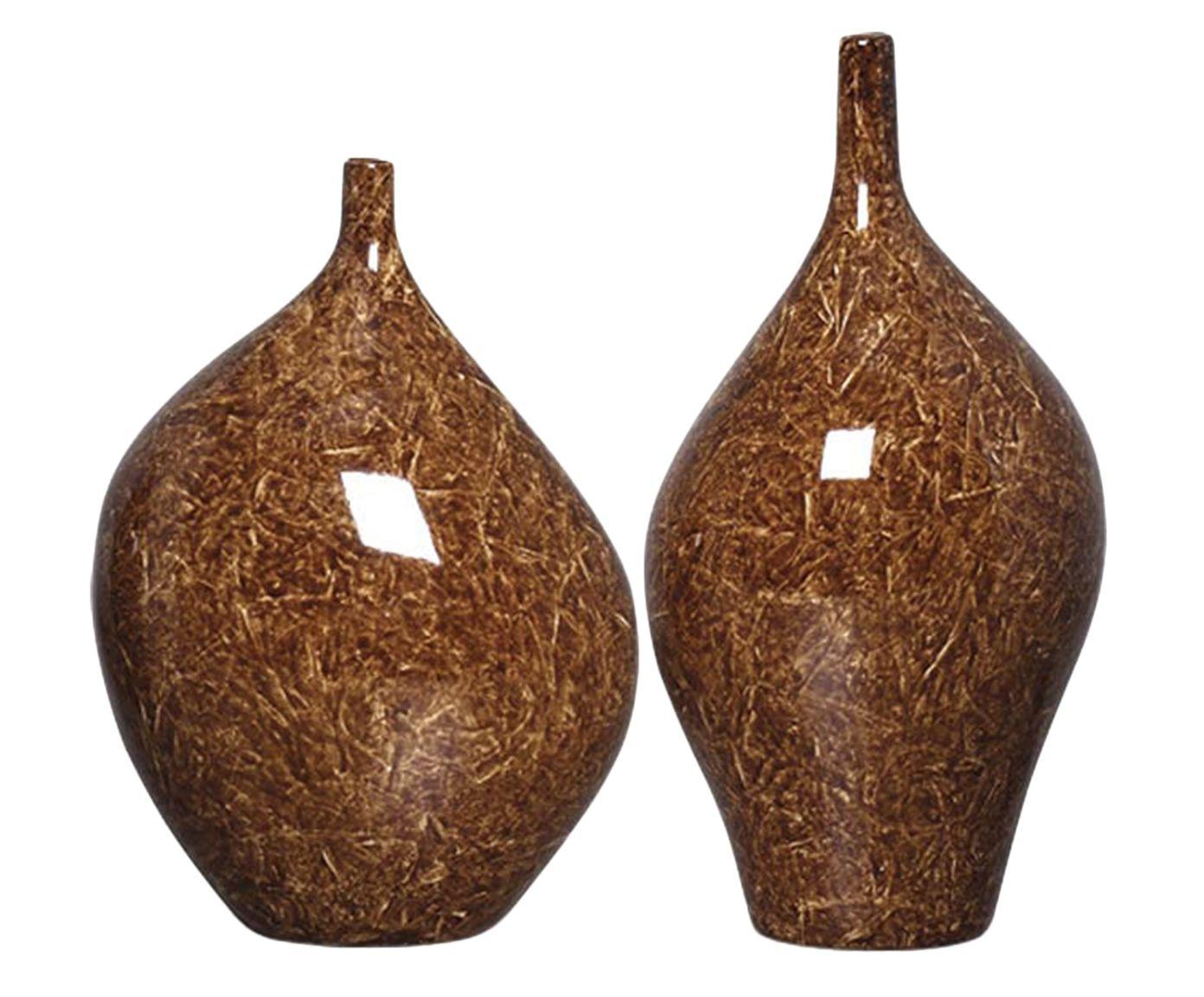 Jogo de Garrafas Decorativas Munique Marrom | Westwing.com.br
