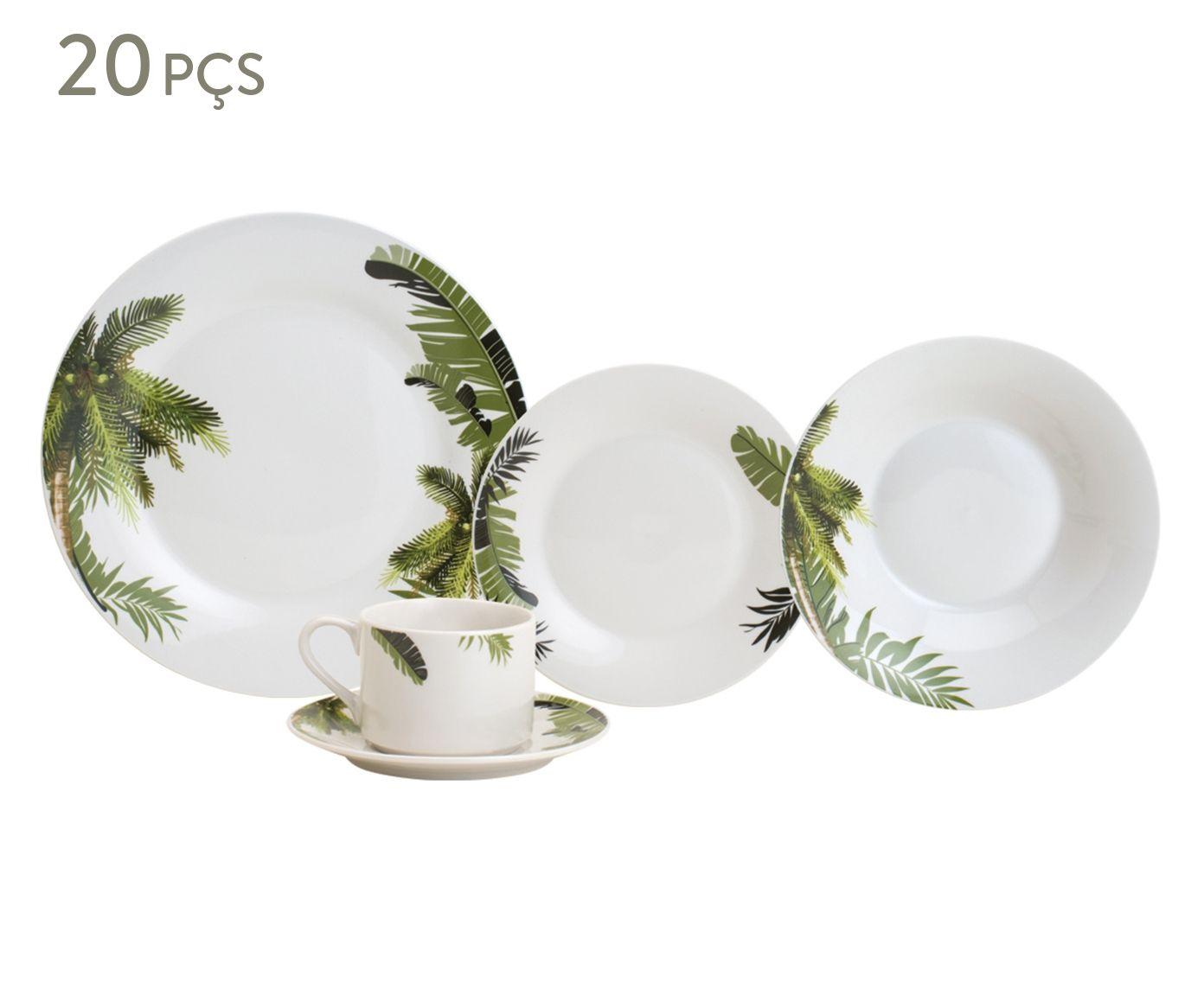 Jogo de Jantar em Porcelana Coqueiro - 04 Pessoas | Westwing.com.br