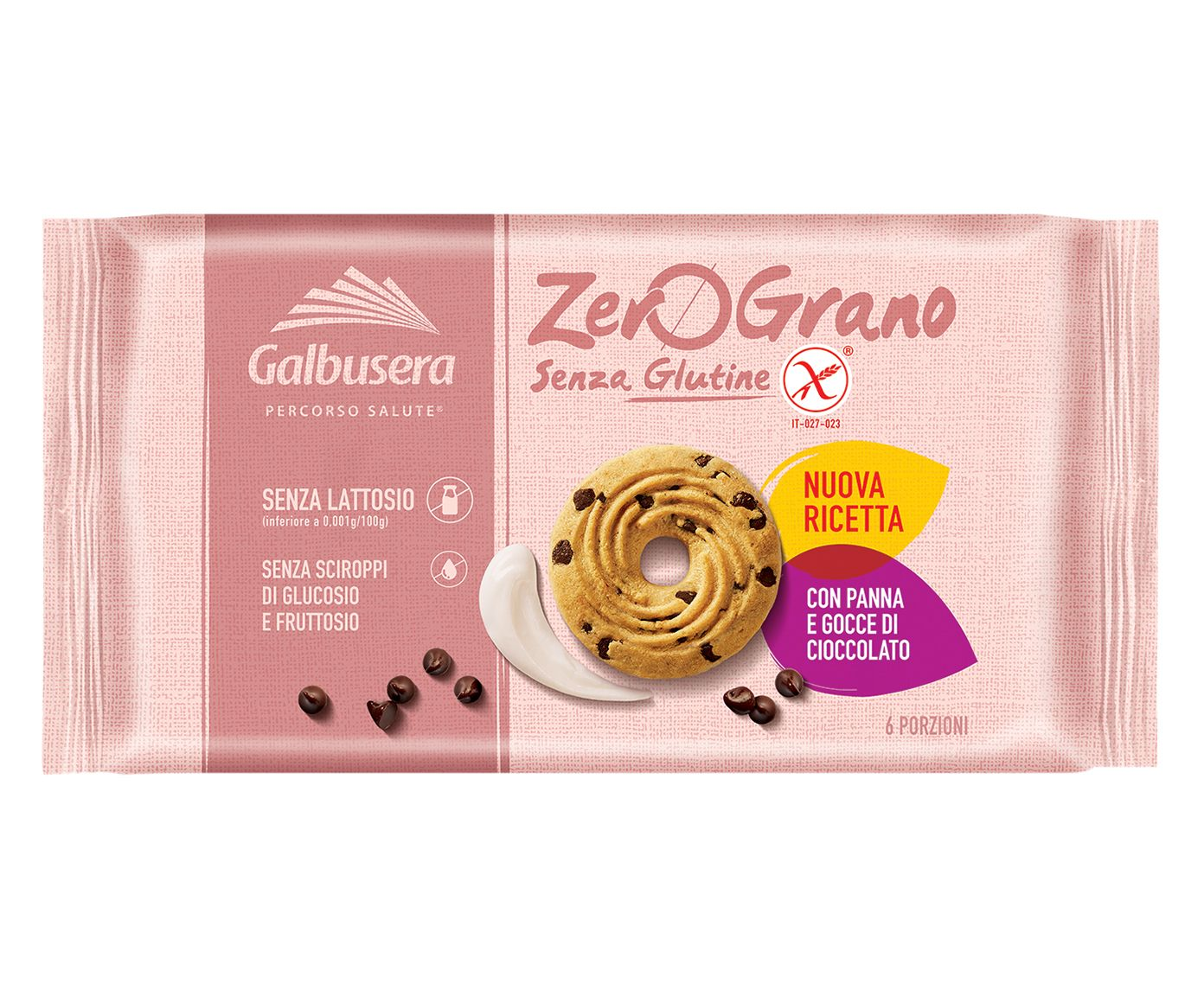 Biscoito com Gotas de Chocolate Frollini Zero Grano - 220G | Westwing.com.br