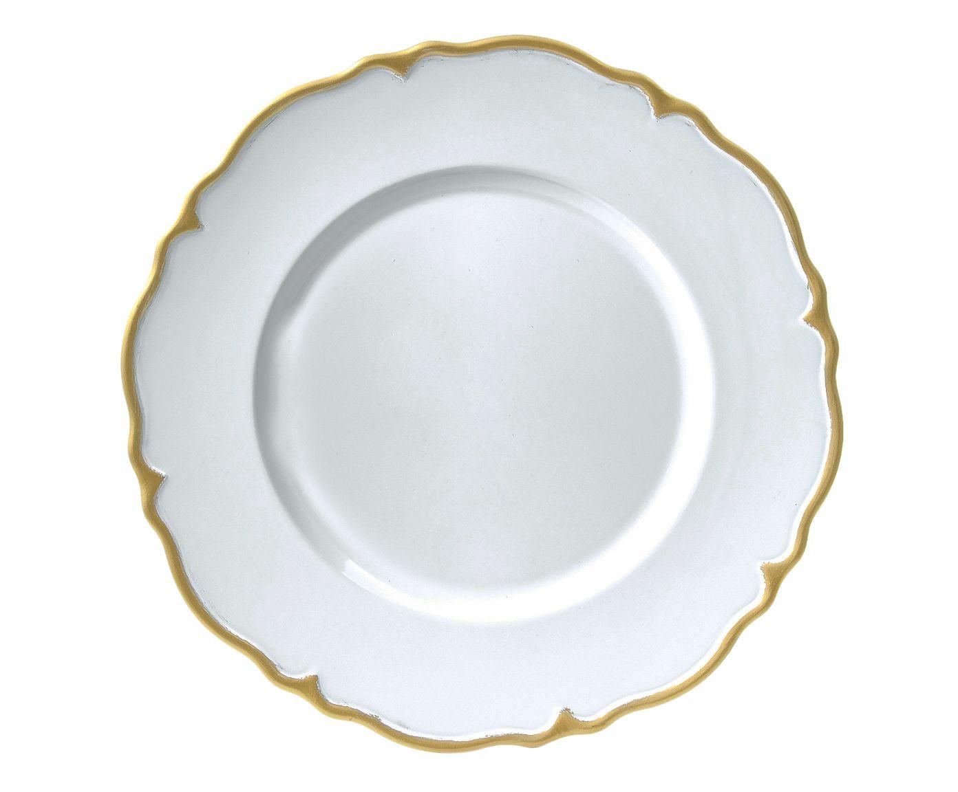 Sousplat Marselha White - 33cm | Westwing.com.br