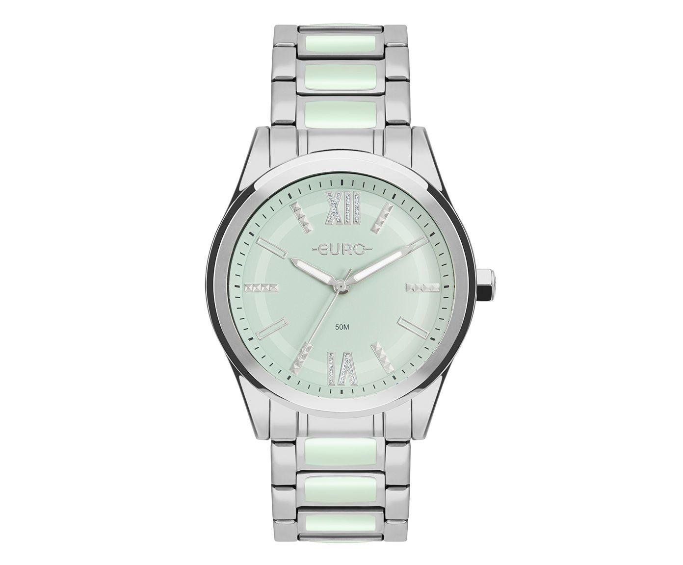 Relógio Analógico Colors Euro Prateado | Westwing.com.br