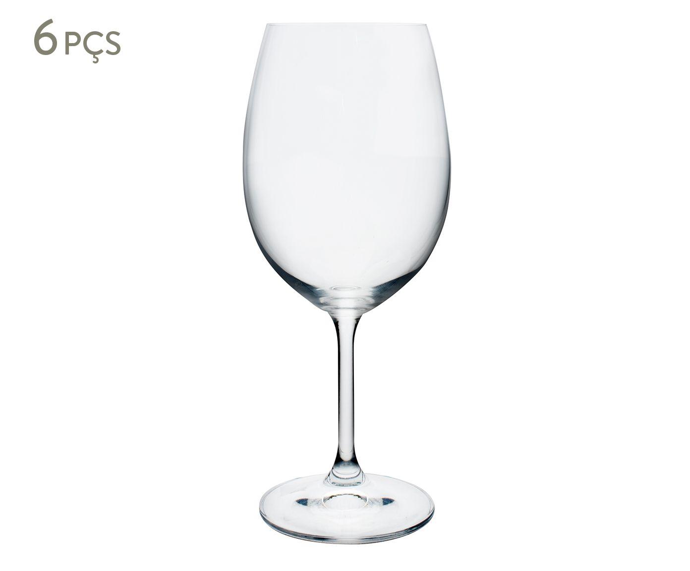 Jogo de Taças para Vinho em Cristal Ecológico Anna - 450ml | Westwing.com.br