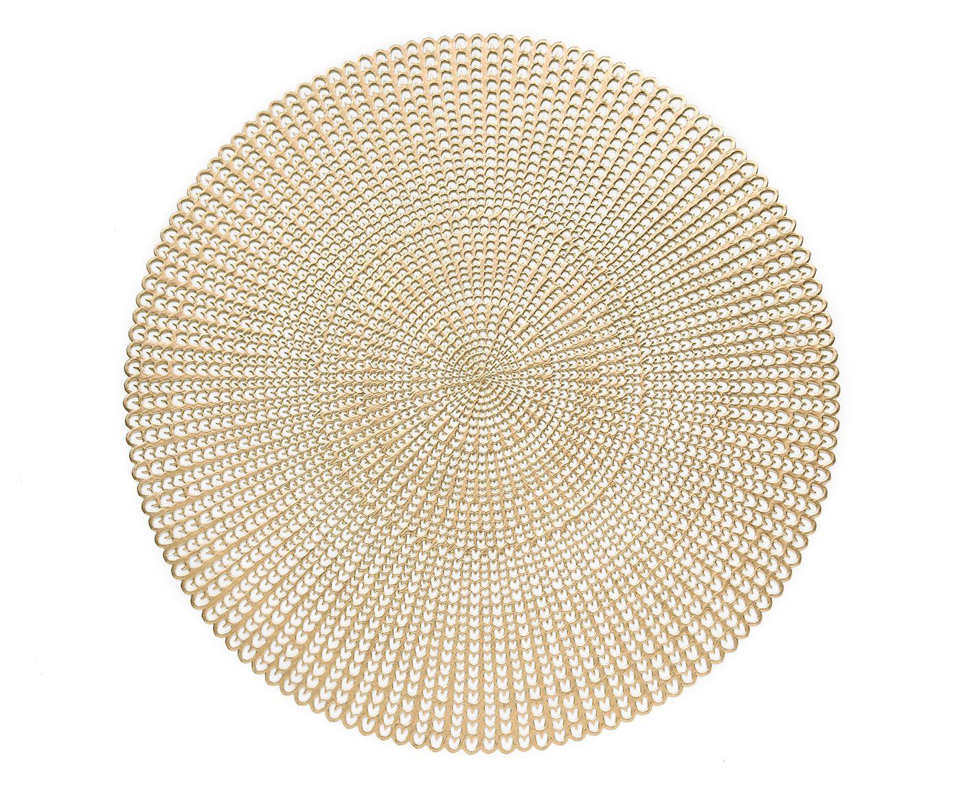 Sousplat Concept Dourado - 42cm   Westwing.com.br