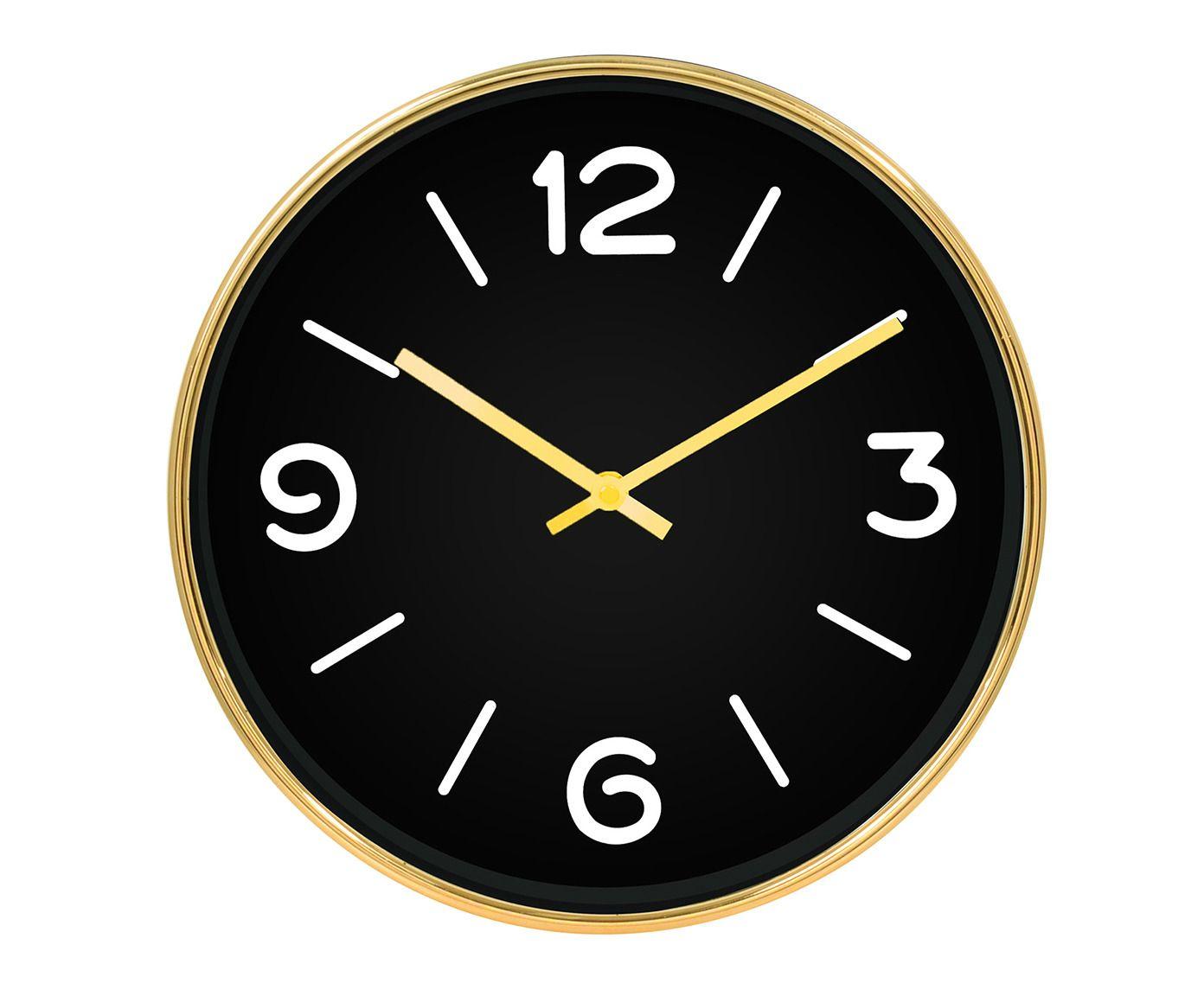 Relógio de Parede Vivian Preto - 25cm | Westwing.com.br