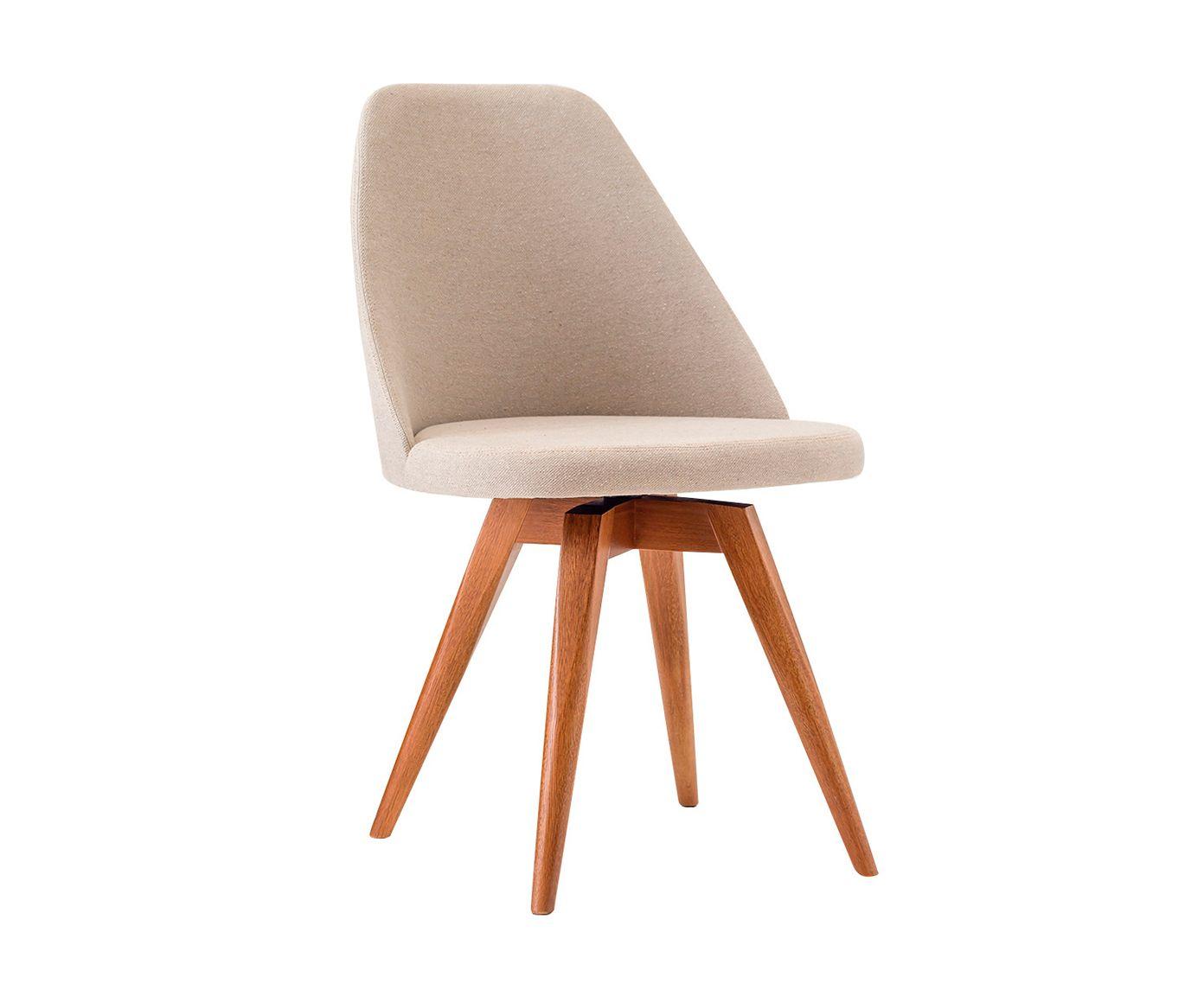 Cadeira Fixa Lucy Bege Médio - 53X86X55cm   Westwing.com.br