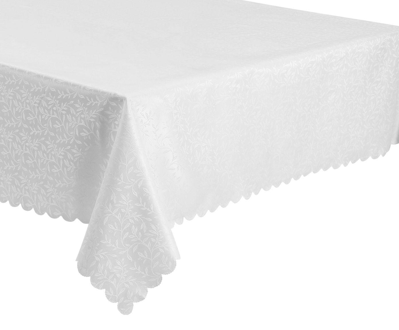 Toalha de Mesa Impermeável Auguri Rami Off White - 180X180cm   Westwing.com.br