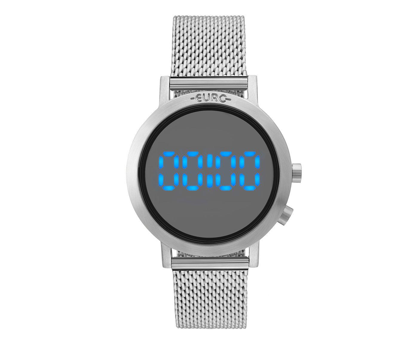 Relógio Digital Fashion Fit Euro Prateado | Westwing.com.br