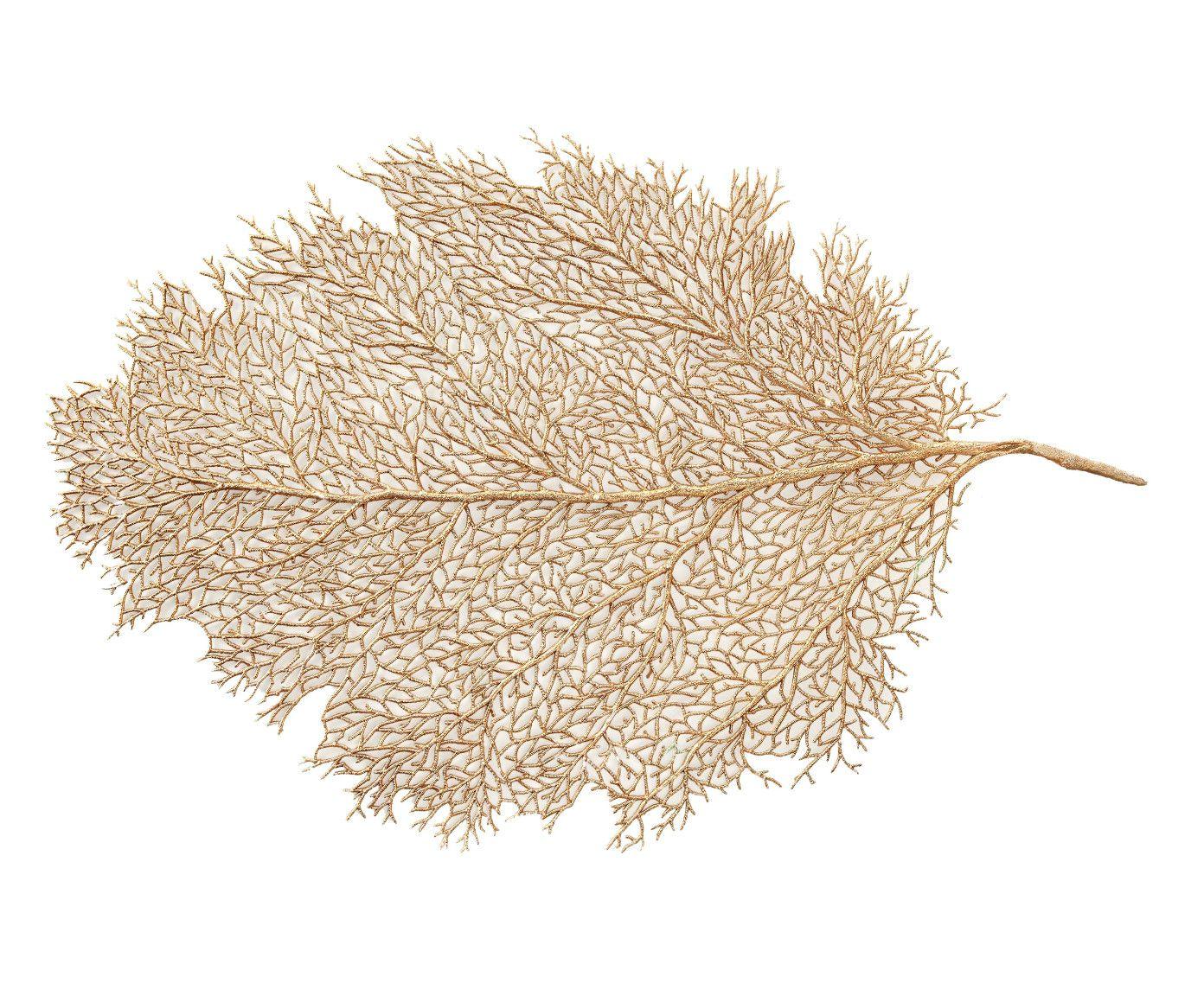 Sousplat Folha Seca Dourado - 40X40cm | Westwing.com.br