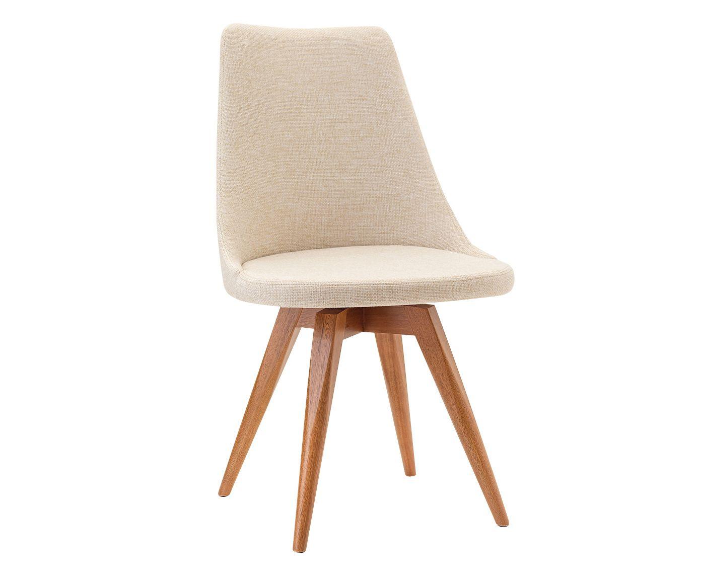Cadeira Fixa Ella Creme Claro - 53X91X55cm | Westwing.com.br