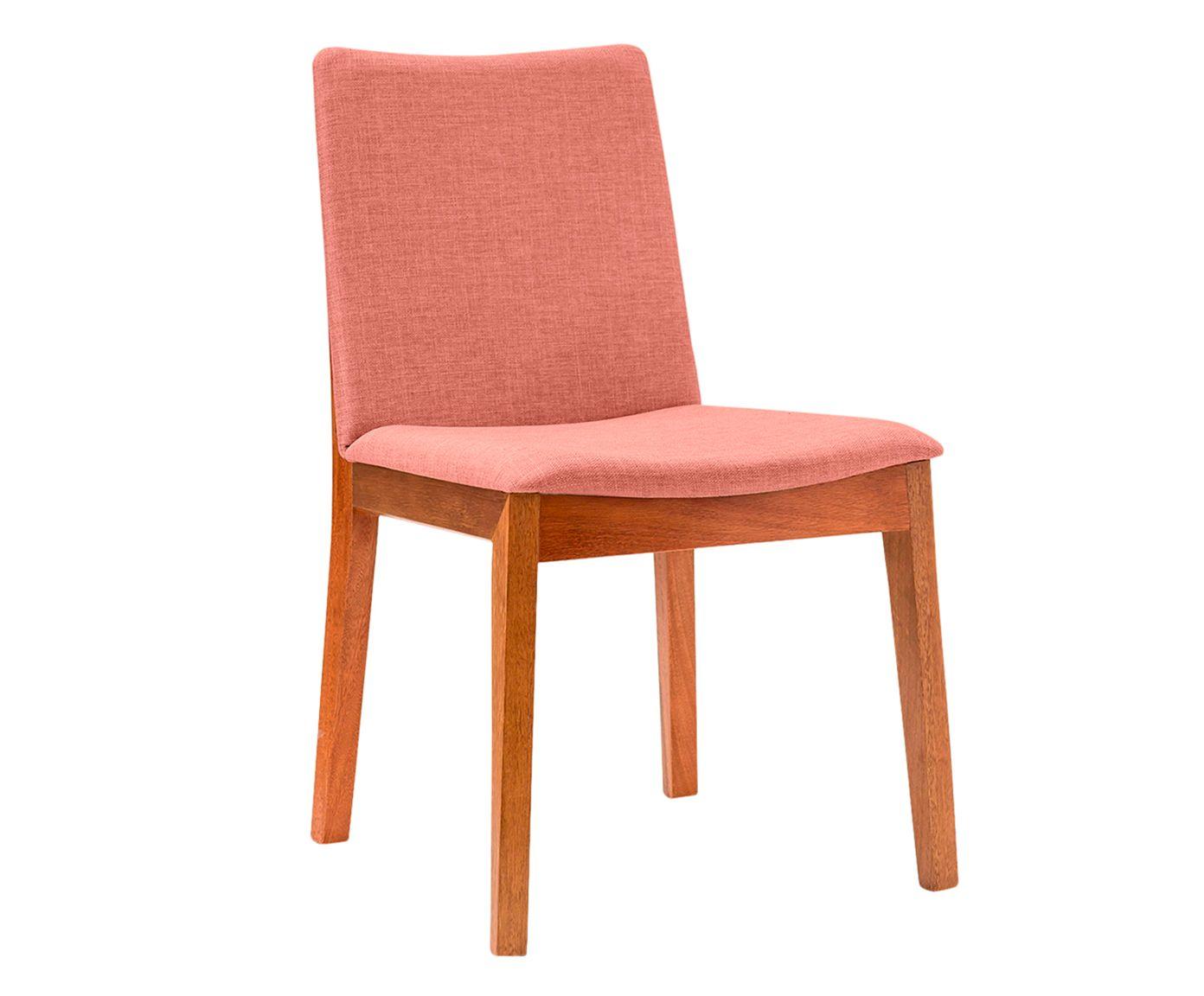 Cadeira em Linho Bella Salmão - 54X84X48cm | Westwing.com.br