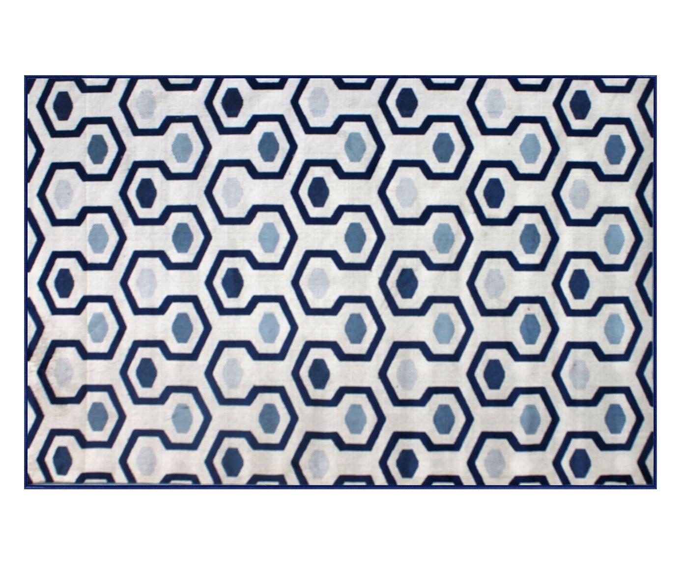 Tapete Belga Star Donnie Azul - 100X140cm   Westwing.com.br