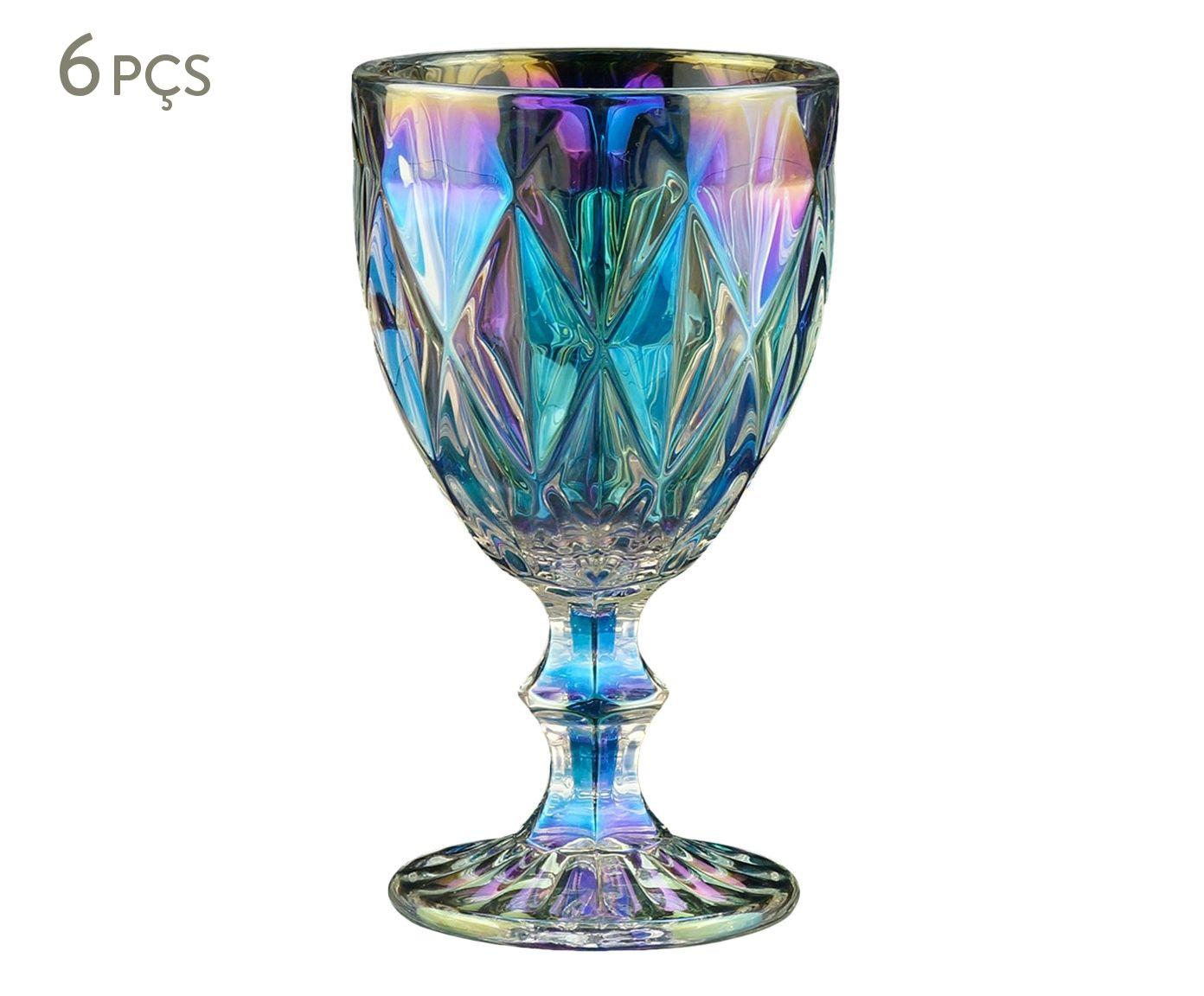 Jogo de Taças para Água Diamond Rainbow - 325ml   Westwing.com.br