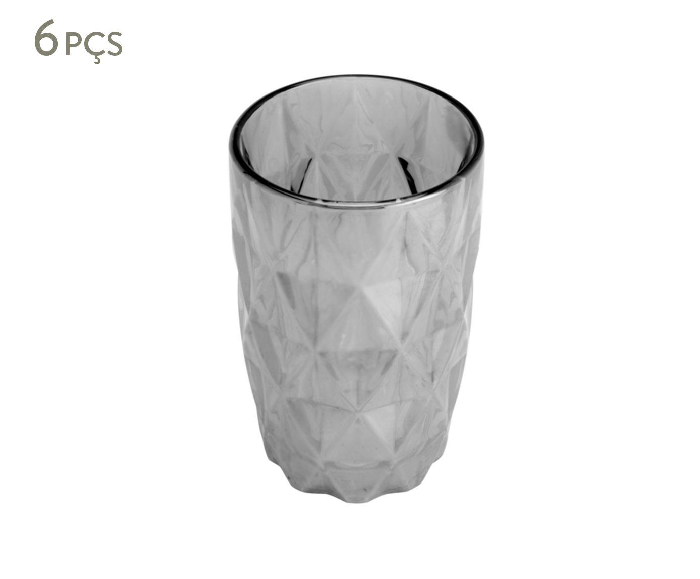 Jogo de Copos Diamond Cinza Metalizado - 350ml | Westwing.com.br