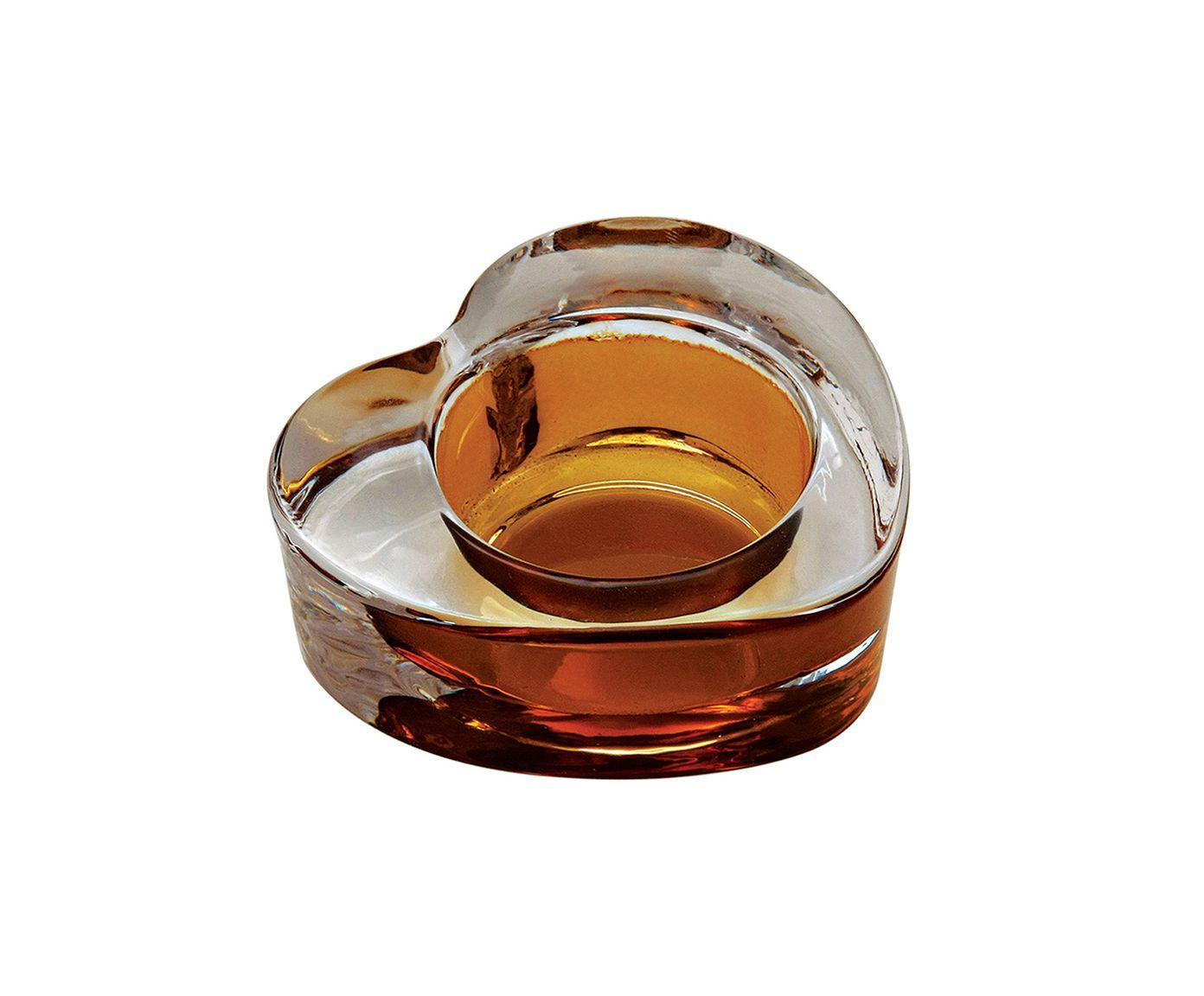Porta-Vela Coração Âmbar - 7X3X7cm | Westwing.com.br