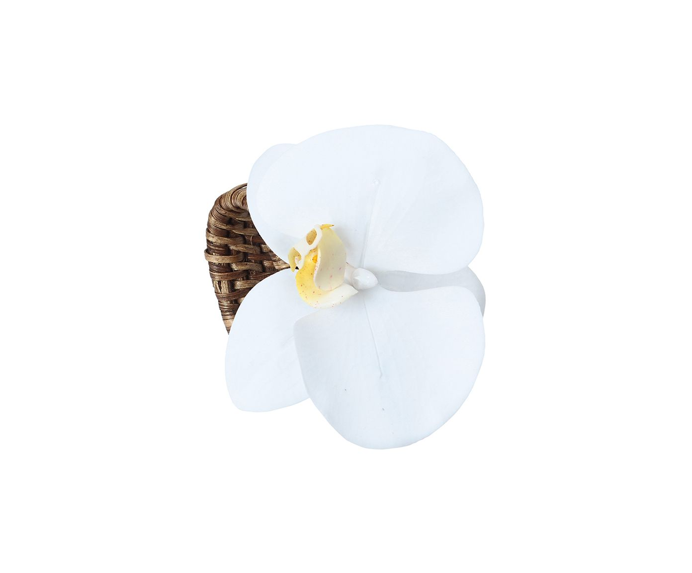 Anel para Guardanapo Orquídea Une Branco - 7cm | Westwing.com.br