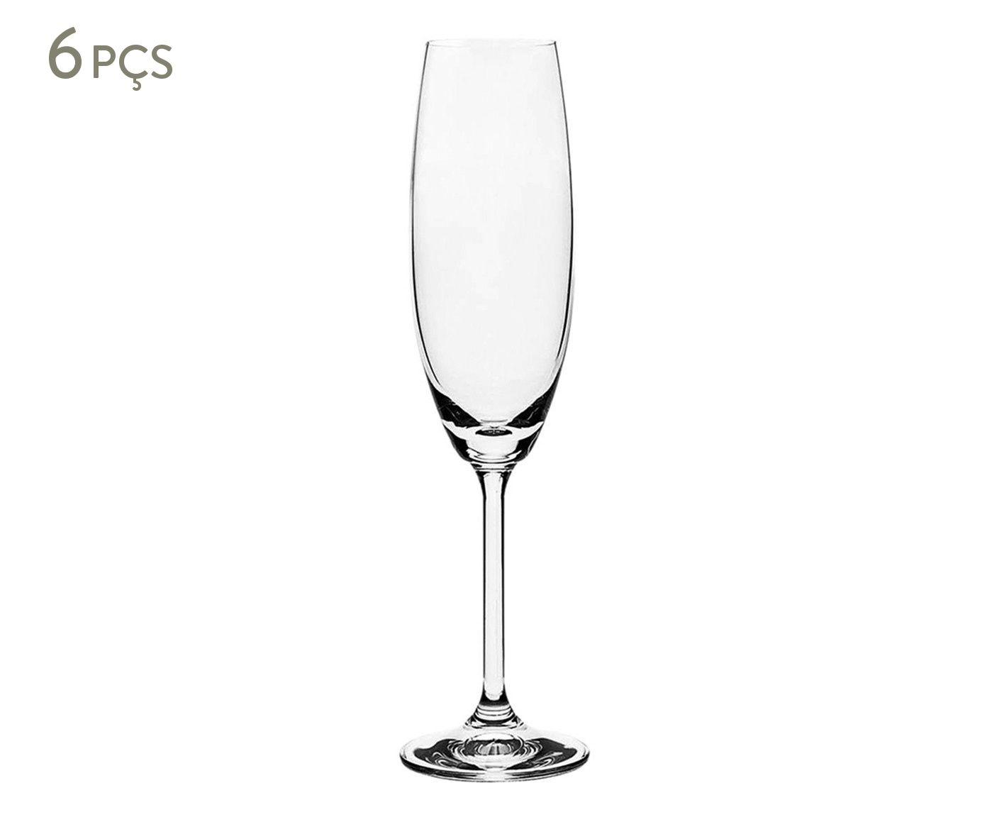 Jogo de Taças para Champagne em Cristal Ecológico Gastro Transparente - 220ml | Westwing.com.br