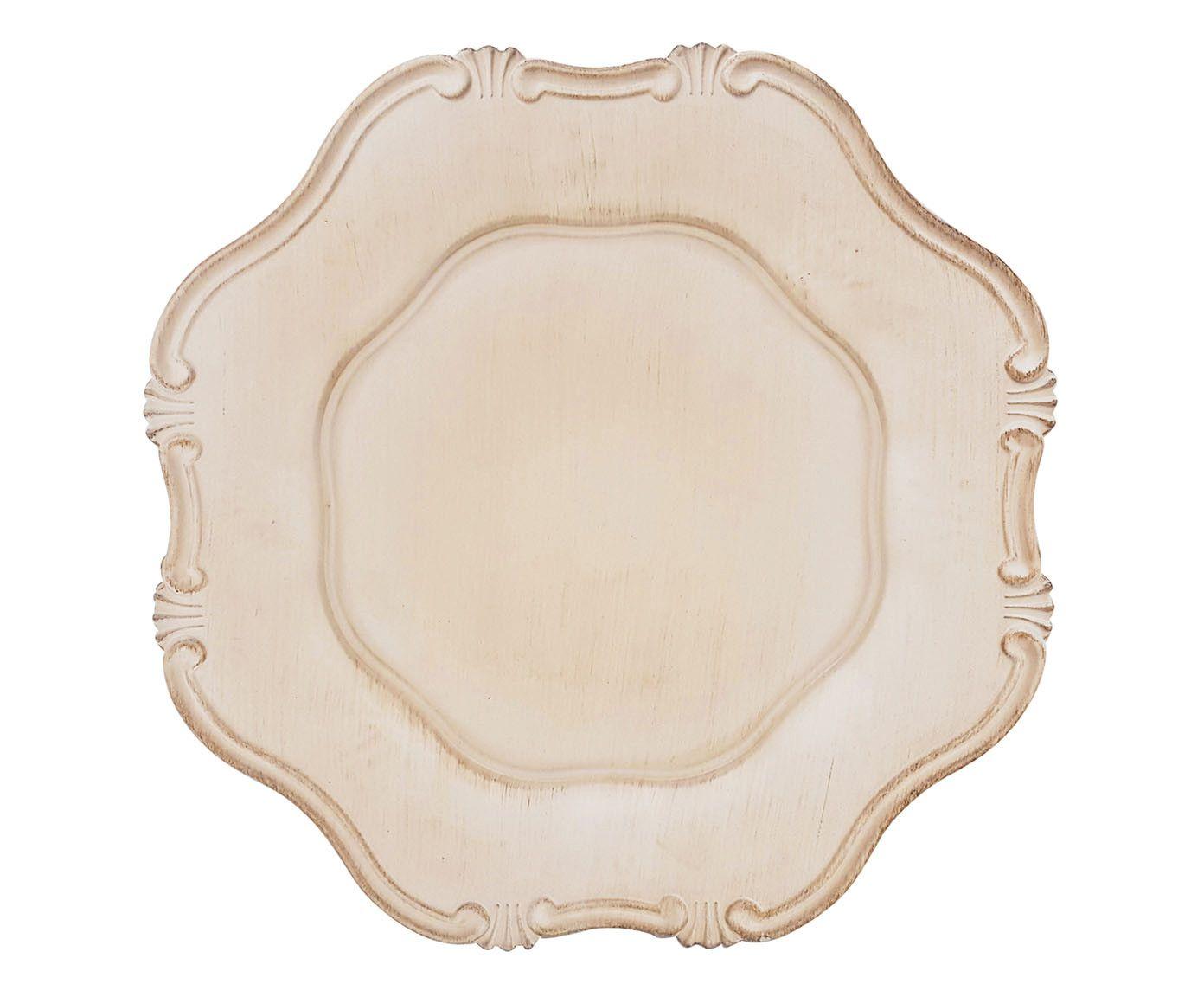 Sousplat Romantique Off-White - 33cm | Westwing.com.br
