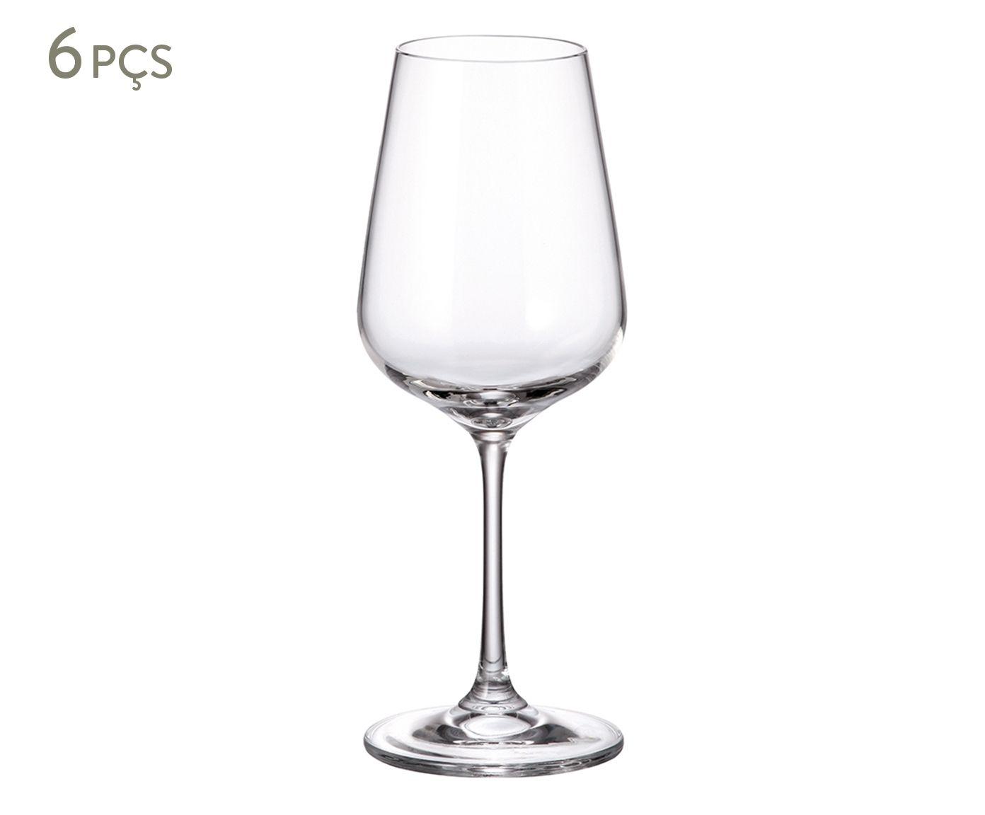 Jogo de Taças para Vinho Branco em Cristal Ecológico Eva - 360ml | Westwing.com.br