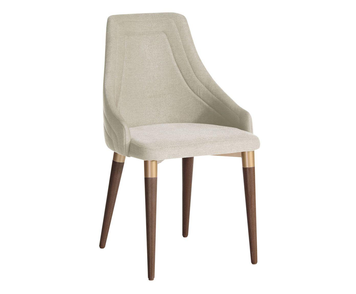 Cadeira Evelyn Bege Claro - 54X92X47cm | Westwing.com.br