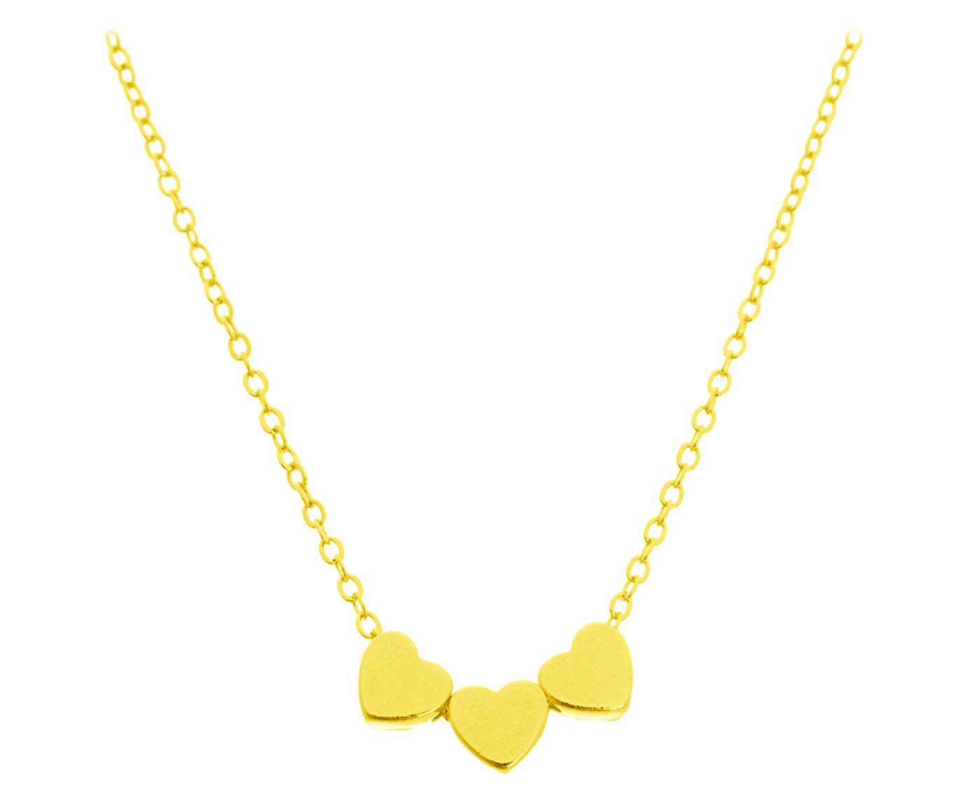 Colar 3 Corações Gold | Westwing.com.br