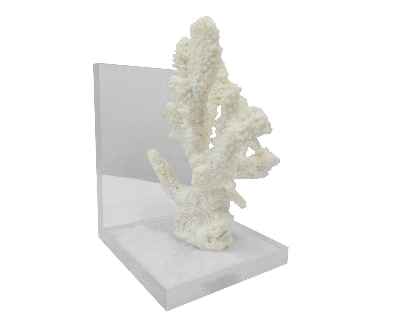 Aparador para Livros Coral Heidi Branco - 12X18X10cm | Westwing.com.br