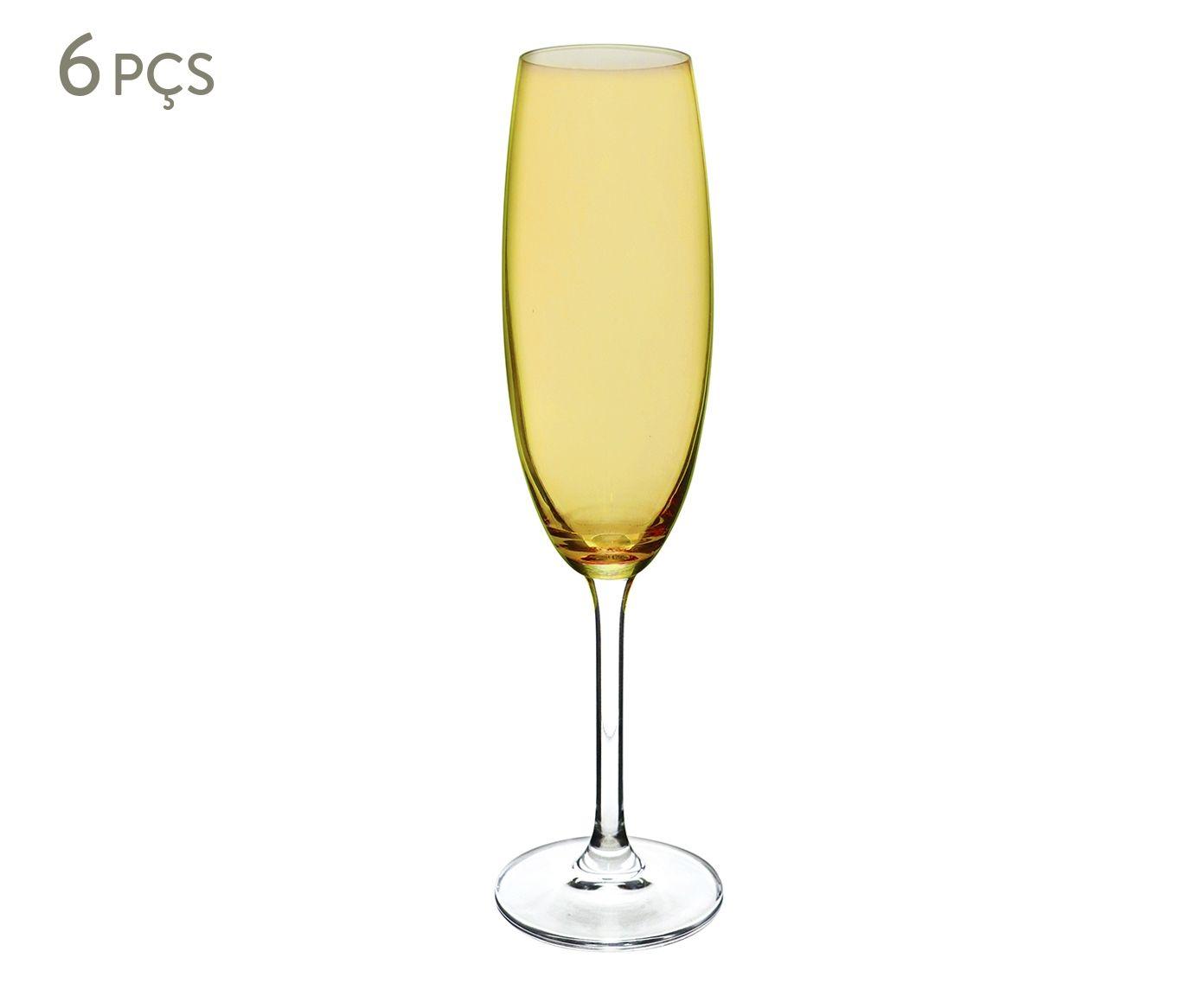 Jogo de Taças para Champagne em Cristal Ecológico Grastro Âmbar - 220ml | Westwing.com.br