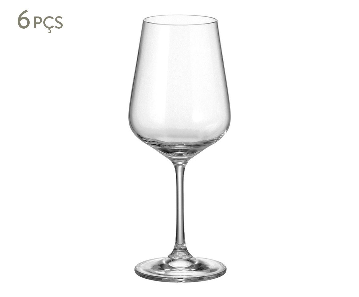 Jogo de Taças para Vinho em Cristal Ecológico Strix - 450ml   Westwing.com.br