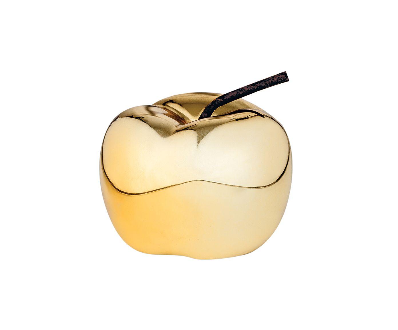 Adorno Maçã Dourado - 8,5X6,5X8,5cm | Westwing.com.br