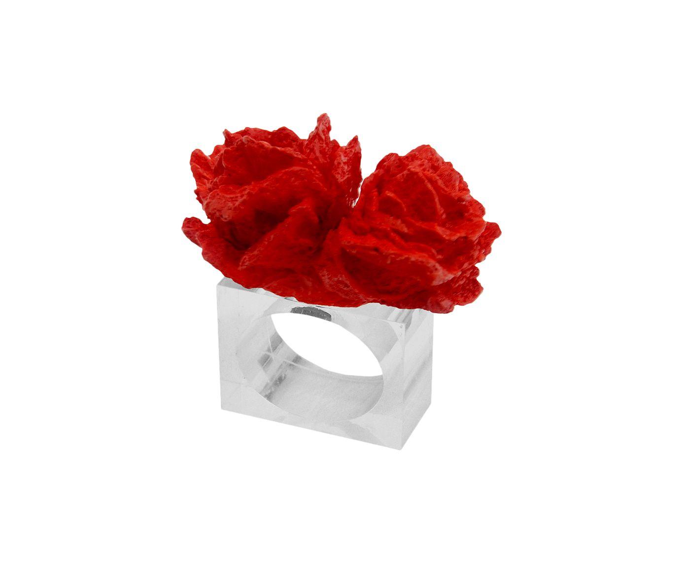Anel para Guardanapo Coral Ross Vermelho - 8X8cm | Westwing.com.br
