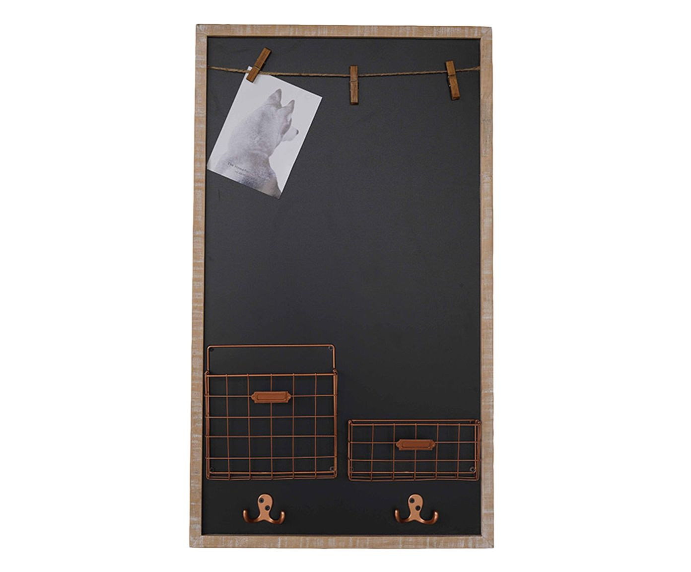 Quadro Negro Office - 47X81X9cm | Westwing.com.br