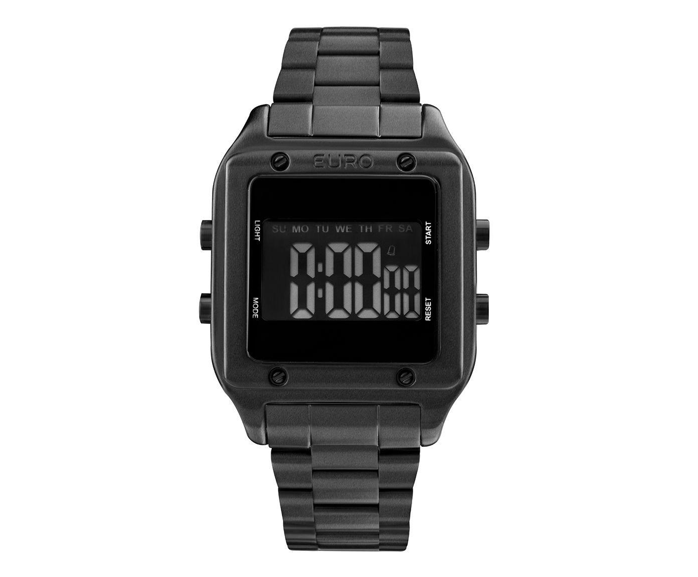 Relógio Fashion Fit Euro Preto | Westwing.com.br