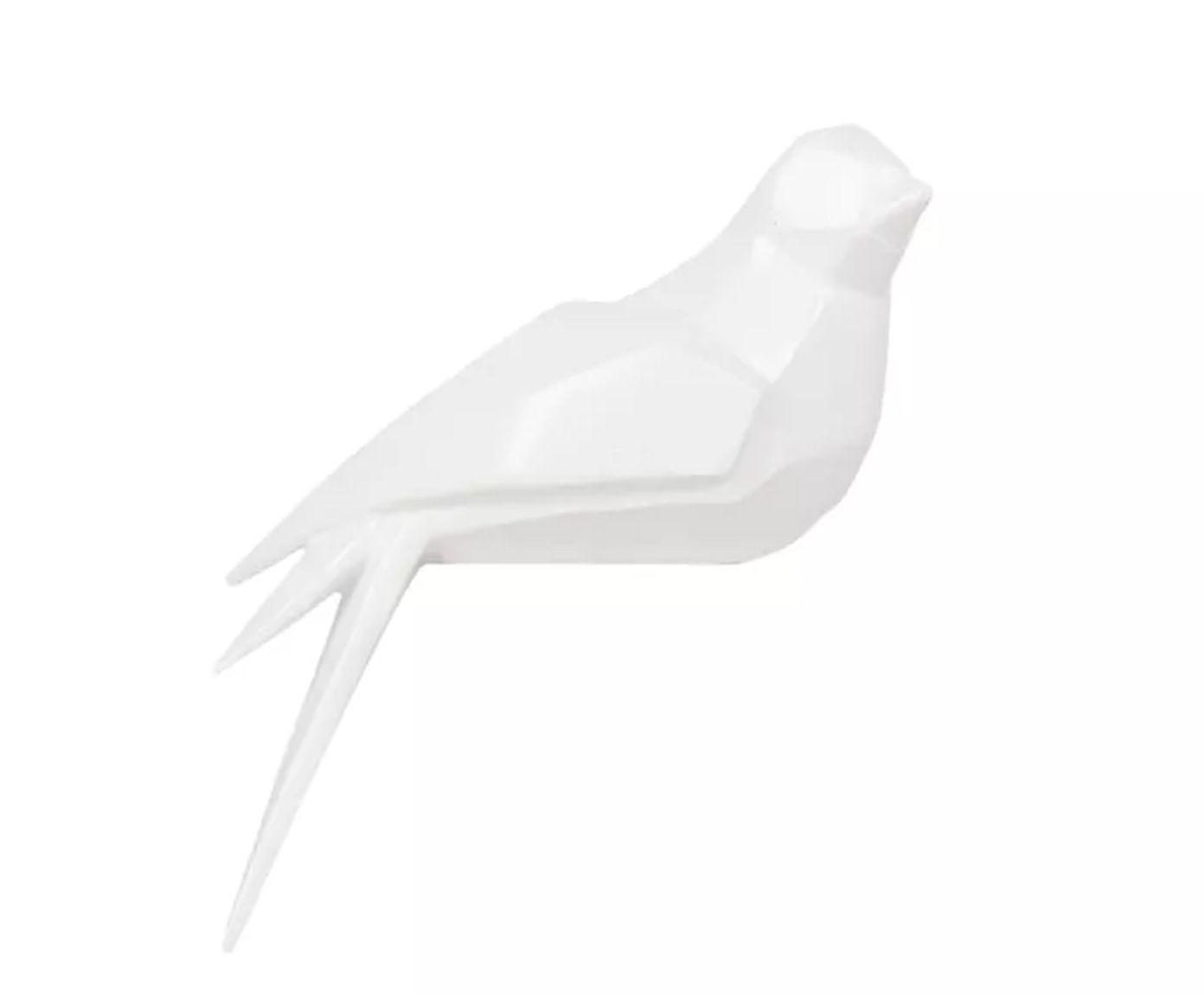 Adorno Oiseau Pássaro I Branco - 24X8X8cm | Westwing.com.br