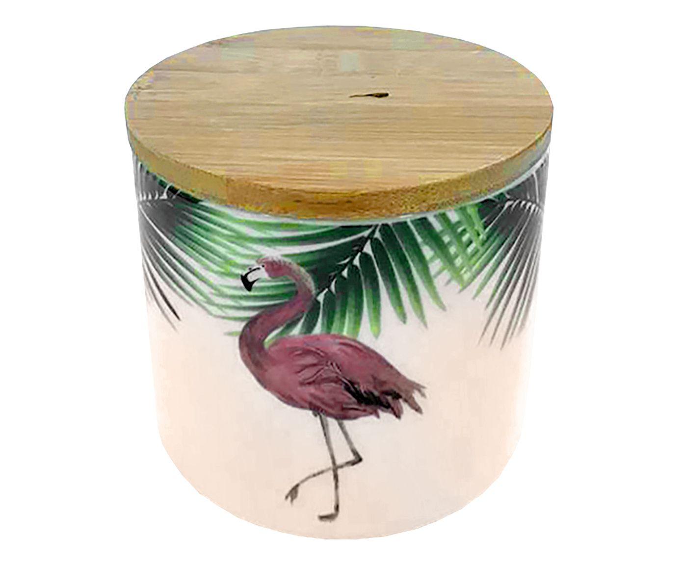 Pote Decorativo com Tampa Flamingo - 10,5cm | Westwing.com.br
