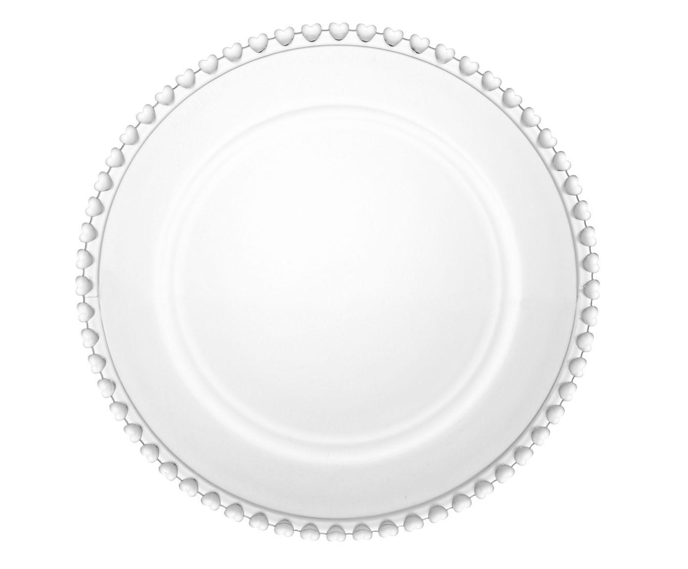 Sousplat em Cristal Coração - 32cm | Westwing.com.br